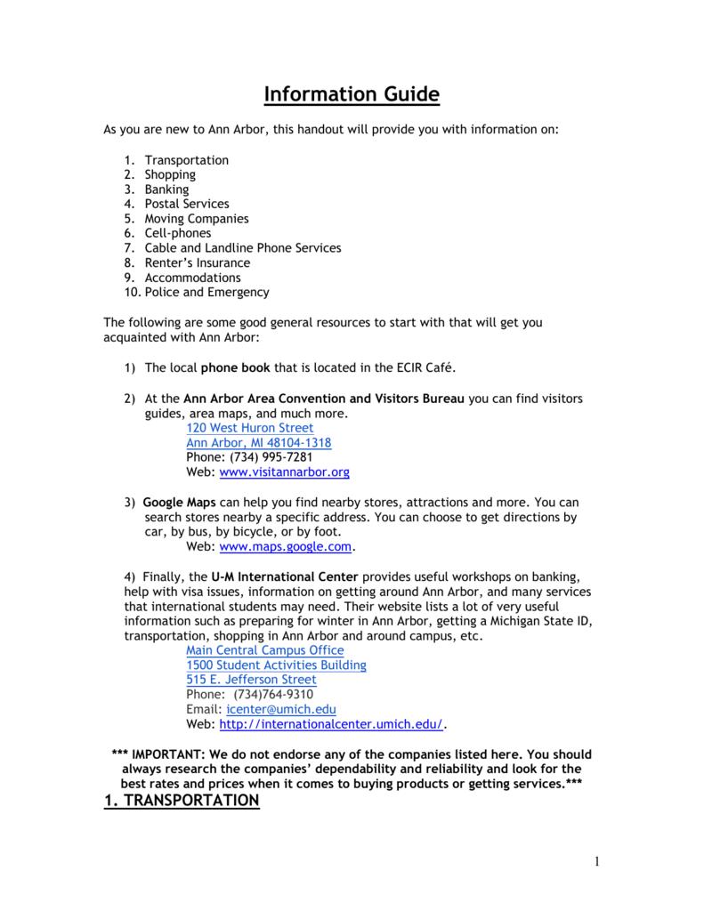 Ann Arbor Information