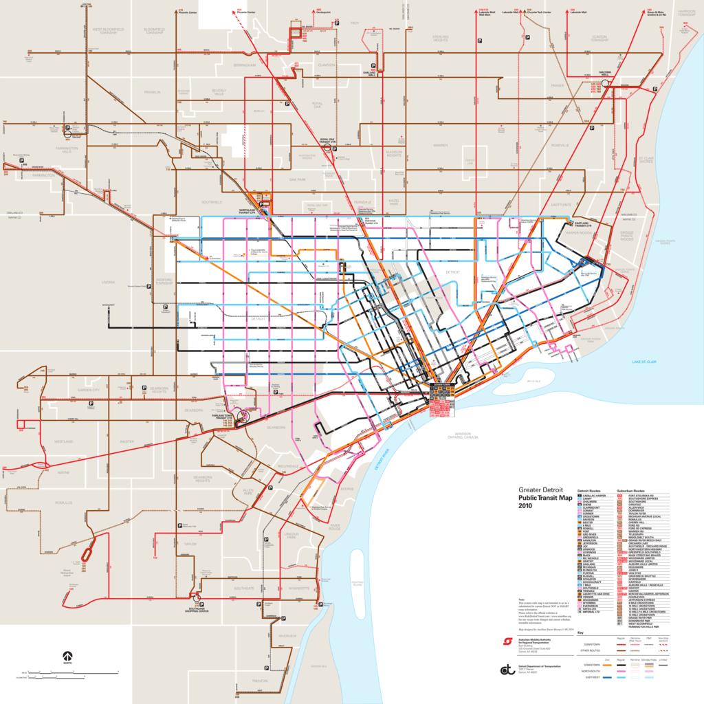 detroit public transportation map Joint Ddot Smart Bus Map detroit public transportation map
