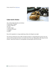 Cuban Garlic Chicken