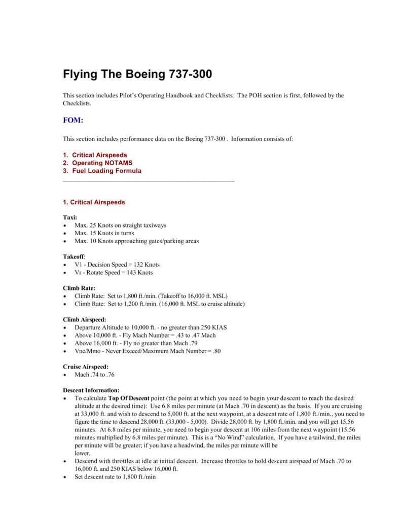 Flying The Boeing 737-300
