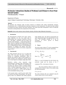 Molecular Interactions Studies of Methanol and Ethanol in Non