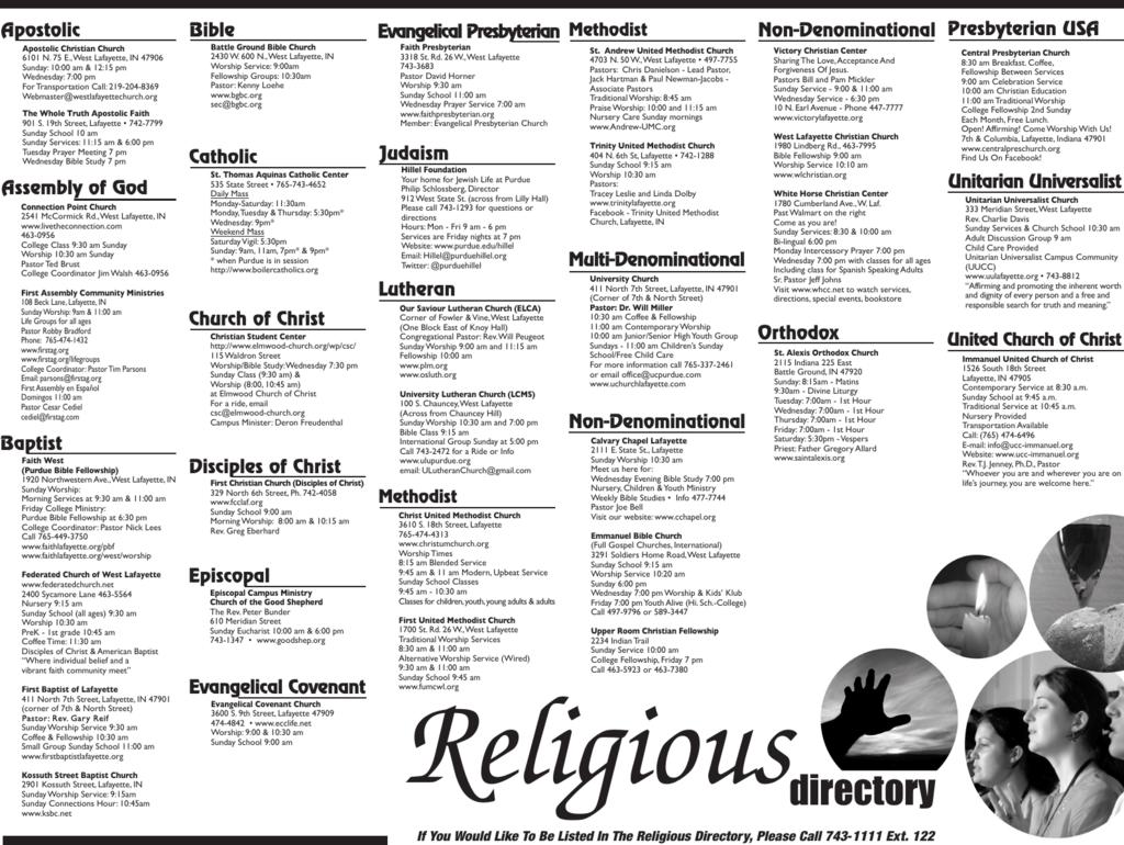 Religious Directory eps