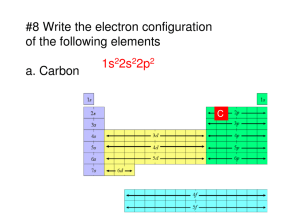 #8 Write the electron configuration of the following elements a
