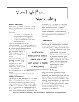 Bisexuality - Welcoming Community Network