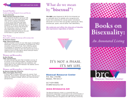 Books on Bisexuality - Bisexual Resource Center