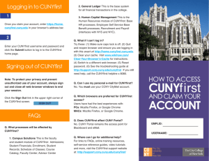 CUNYfirst - The City College of New York