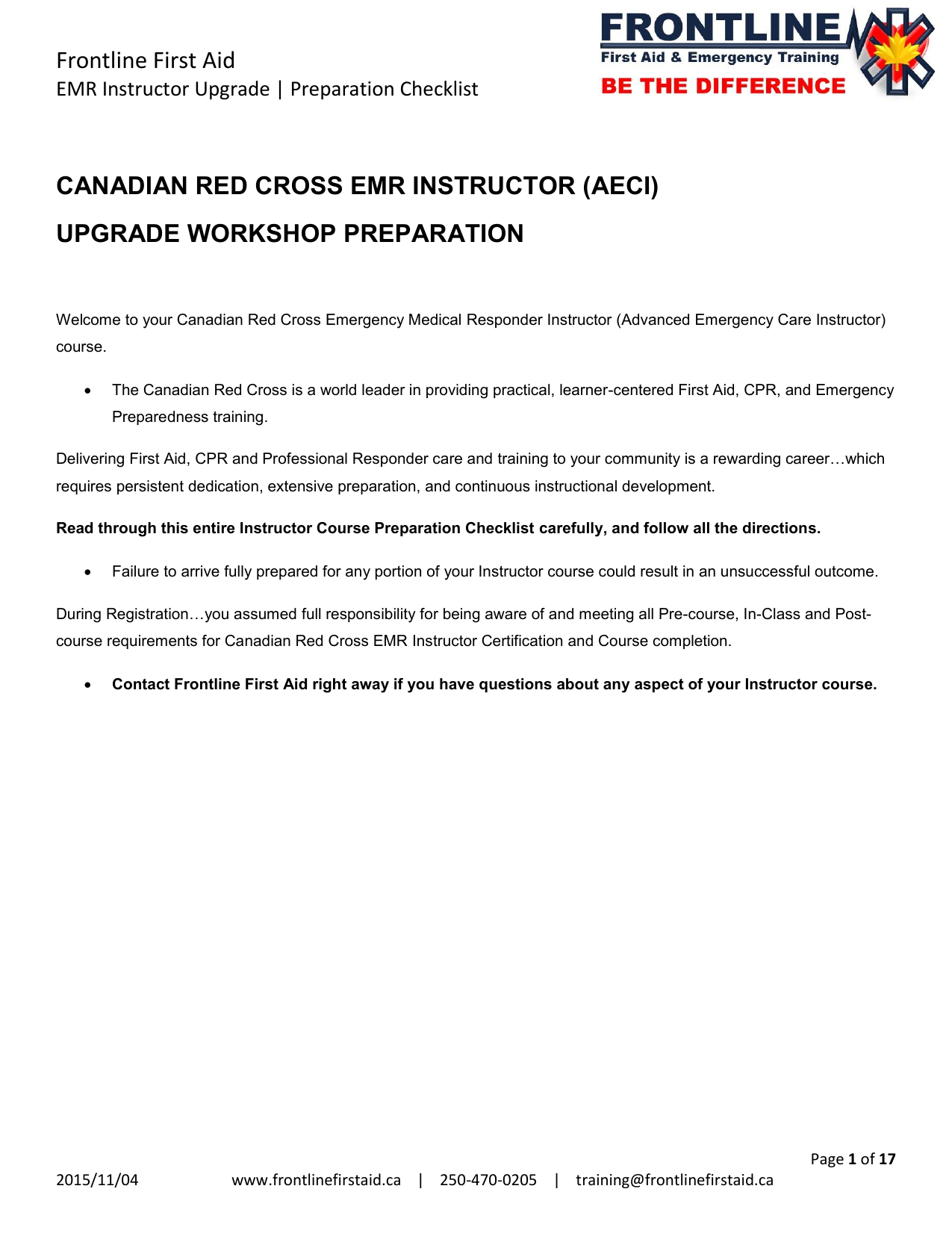 Canadian red cross first aid and cpr practice test emr instructor upgrade course checklist 1betcityfo Images