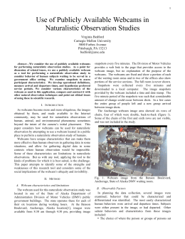 Use of Publicly Available Webcams in Naturalistic Observation Studies