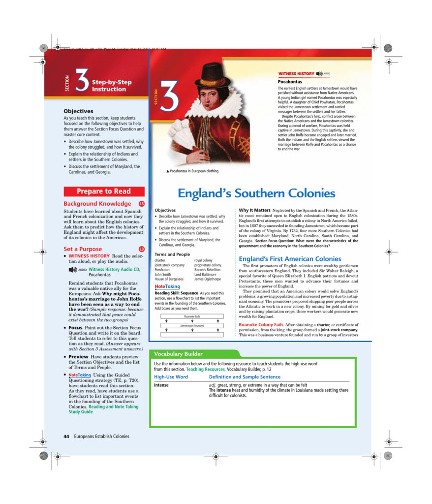 worksheet Jamestown Worksheet englands southern colonies