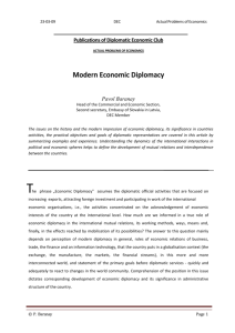 Modern Economic Diplomacy - Diplomatic Economic Club.