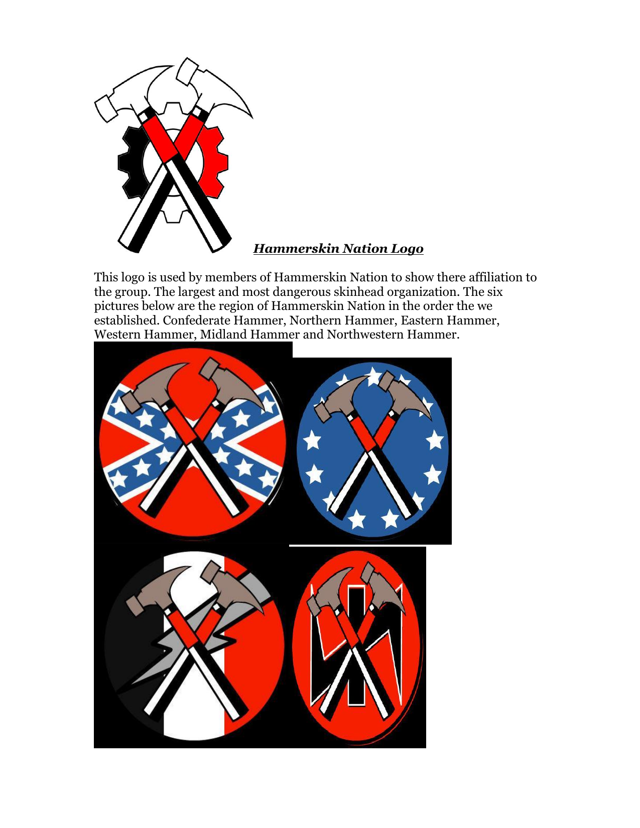 Hammerskin Nation Logo Nevada Corrections Association