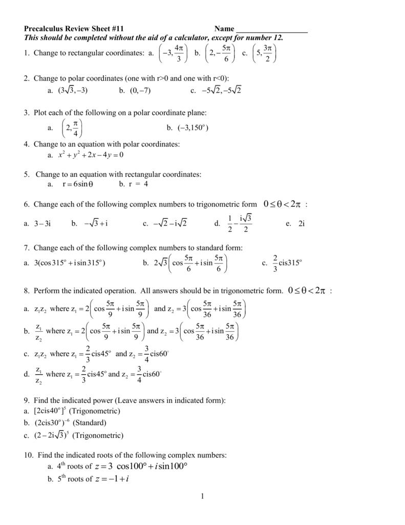 Precalculus review sheet 11 falaconquin