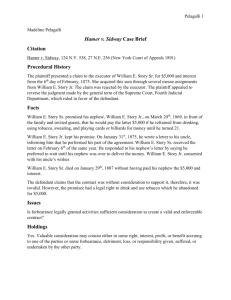 Hamer v. Sidway Case Brief Citation Procedural History Facts Issues