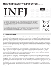 Myers-Briggs Type indicaTor (MBTI®) - Students