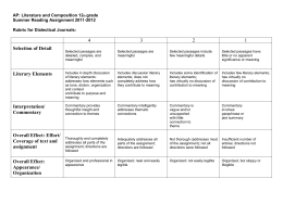 Guidelines for the dialectical journal ap english dialectical journal rubric altavistaventures Gallery