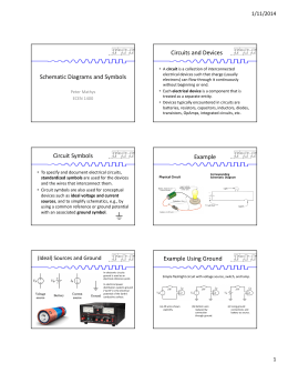 Schematic Diagrams and Symbols Circuits and Devices Circuit