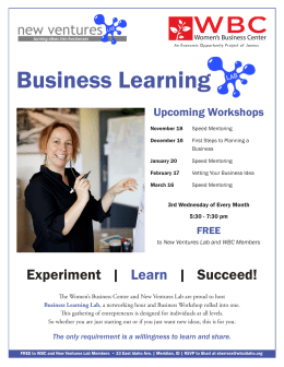 Business Learning - Women's Business Center of Idaho