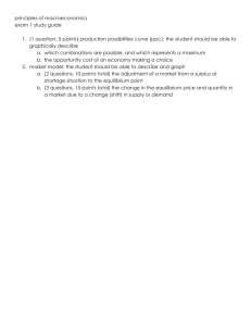 principles of macroeconomics exam 1 study guide 1. (1 question, 5