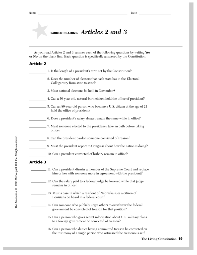 Articles 2 and 3