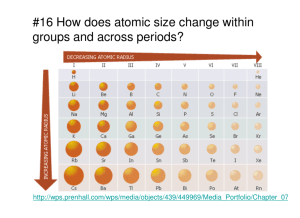 #16 How does atomic size change within groups and across periods?