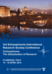 Schizophrenia: The Globalization of Research 3rd Schizophrenia