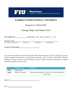 FLORIDA INTERNATIONAL UNIVERSITY Request to Attend FIU