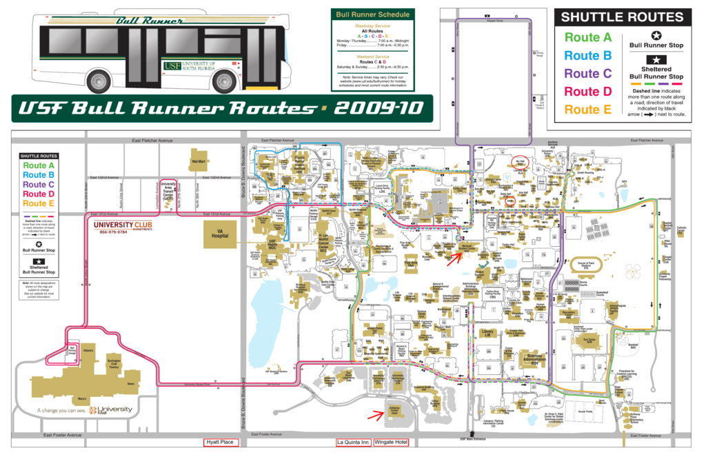 University of South Florida Campus Map
