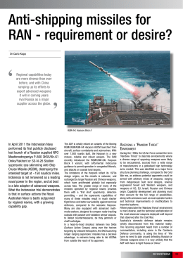 Anti-shipping missiles for RAN - requirement or desire?