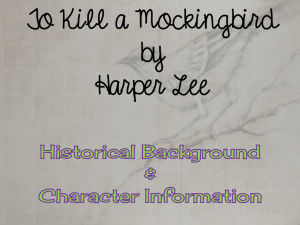 Character Introduction PPT - Sipsey Valley High School