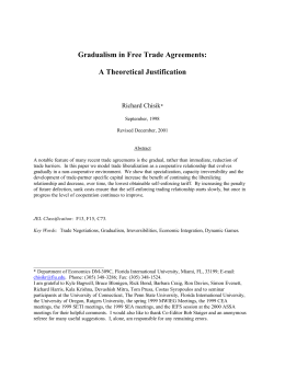 Gradualism in Free Trade Agreements: A Theoretical