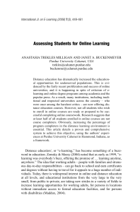 Assessing Students for Online Learning