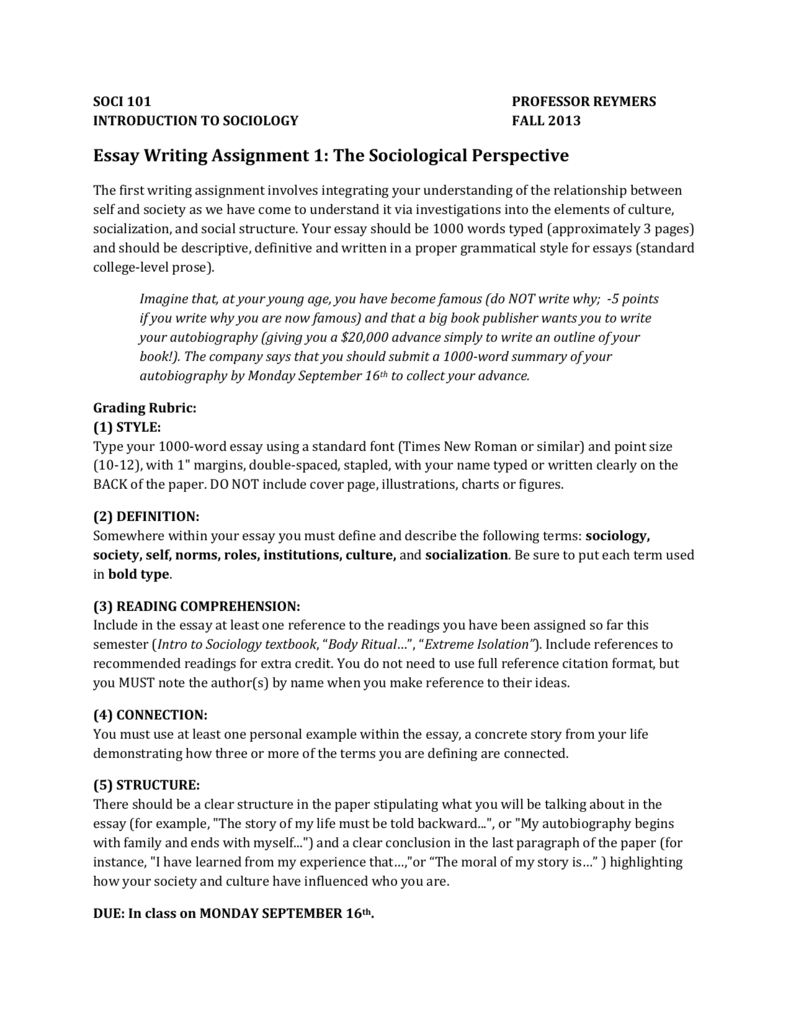 Essay: Sociology of literature