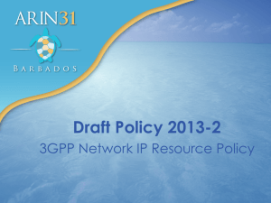 Draft Policy 2013-2