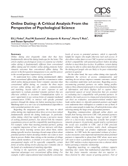 Online Hookup A Critical Analysis From The Perspective