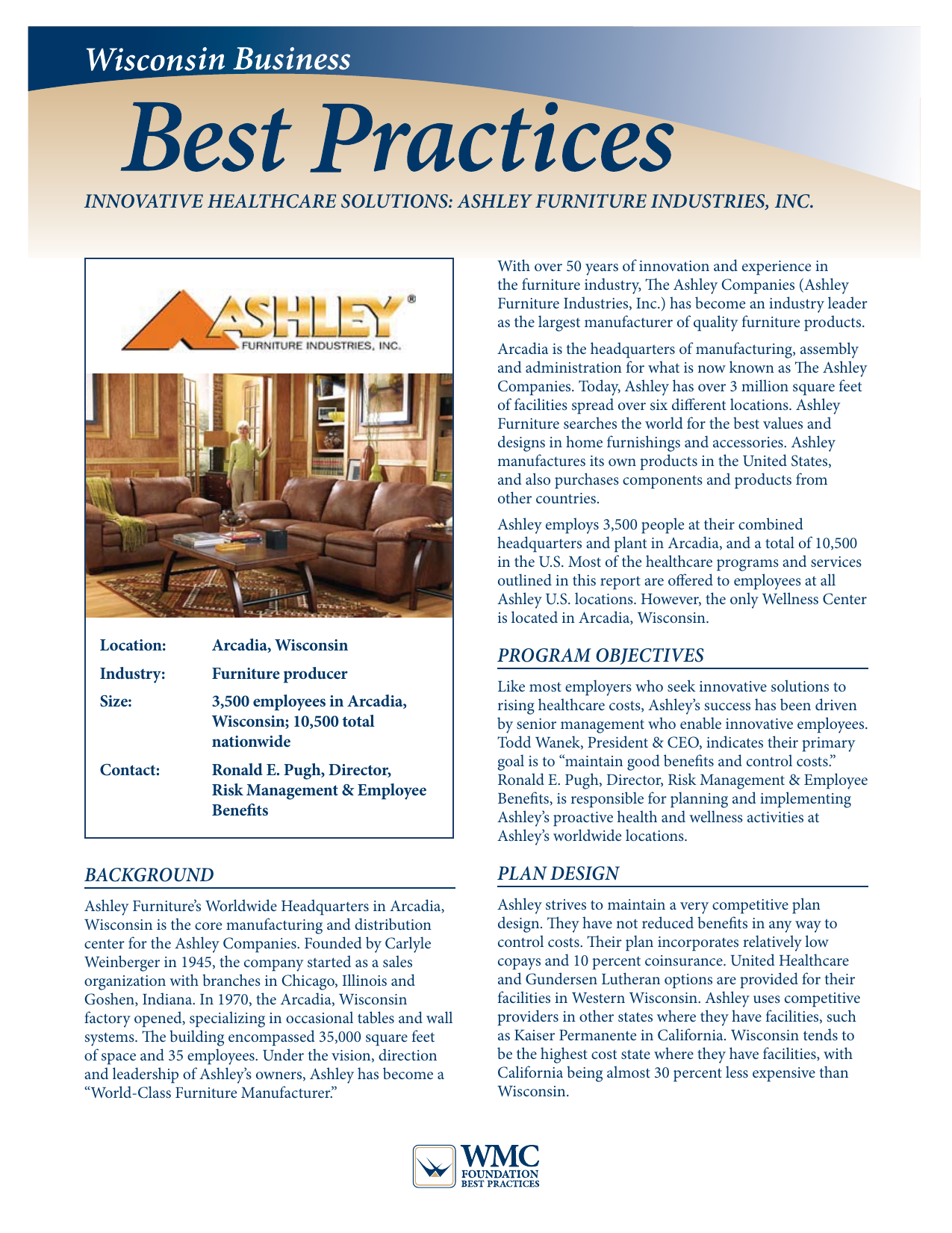Ashley Furniture   Wisconsin Manufacturers U0026 Commerce