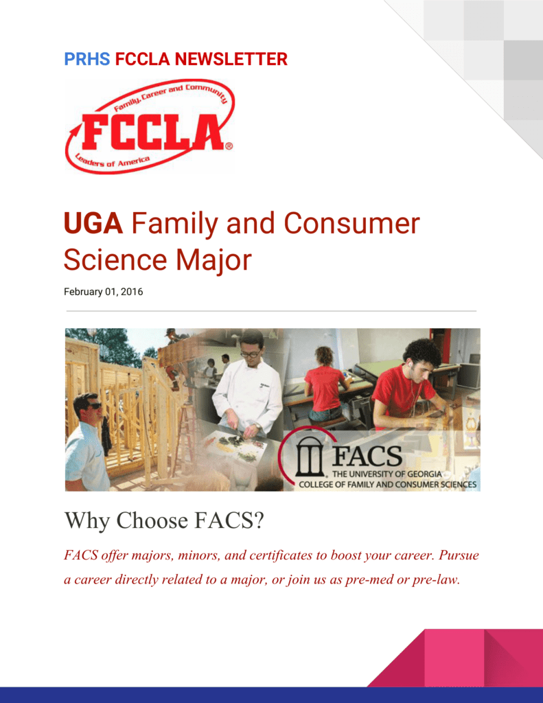 Uga Family And Consumer Science Major