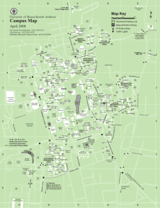 Campus Map University Of Massachusetts Amherst