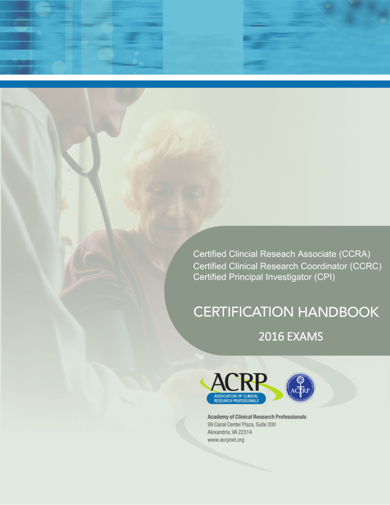 Crc Certification Guide Association Of Clinical Research Professionals