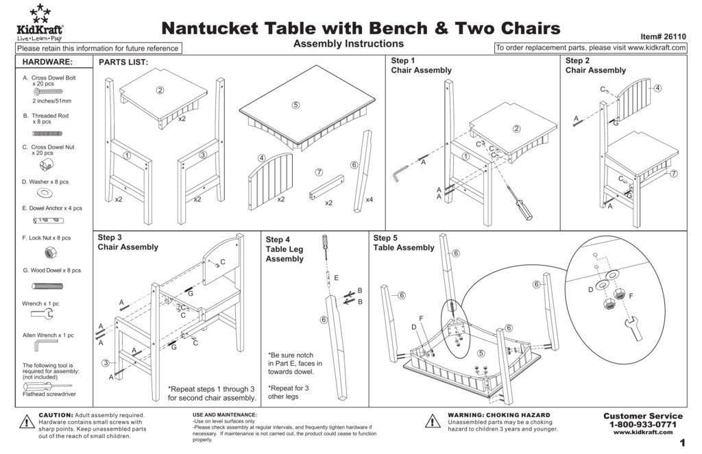 Fine Nantucket Table With Bench Two Chairs Machost Co Dining Chair Design Ideas Machostcouk