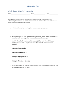Worksheet: Muscle Fitness Facts