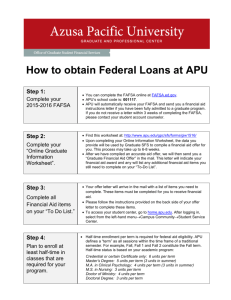 How to Obtain Federal Loans at APU