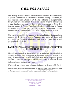 2015 LSU Conference CFP - History Graduate Student Association