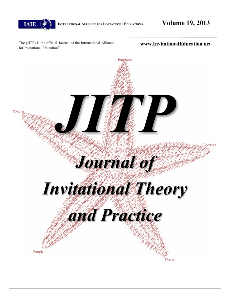 Journal Of Invitational Theory And Practice