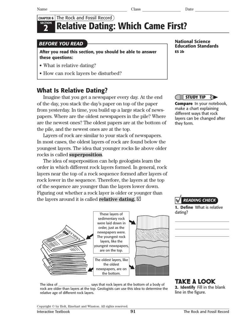 Fossils and relative dating worksheet answer key – Fossil Record Worksheet