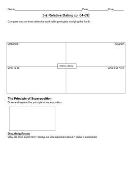 Earth science chapter 6 relative dating worksheet answers