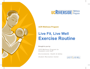 Exercise Routine - Wellness - University of California, Riverside