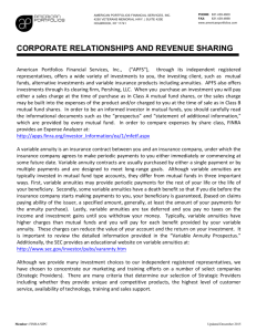 Revenue Sharing - American Portfolios