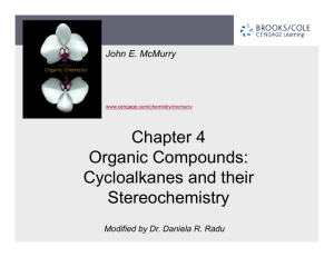 Chapter 4 Organic Compounds: Cycloalkanes and their