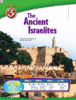 Chapter 3: The Ancient Israelites