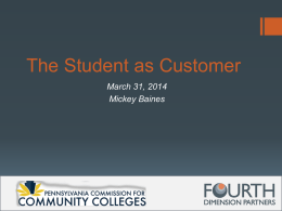 The Student as Customer